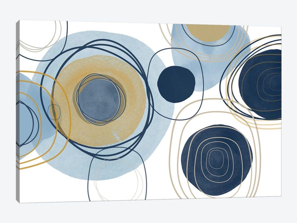 Blue Lines Minimalism III by Irena Orlov 1-piece Canvas Print