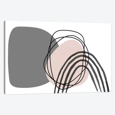 Minimalist Pink Gray Palette I Canvas Print #ORL623} by Irena Orlov Canvas Wall Art