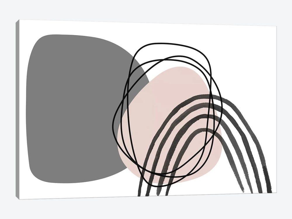 Minimalist Pink Gray Palette I by Irena Orlov 1-piece Canvas Wall Art