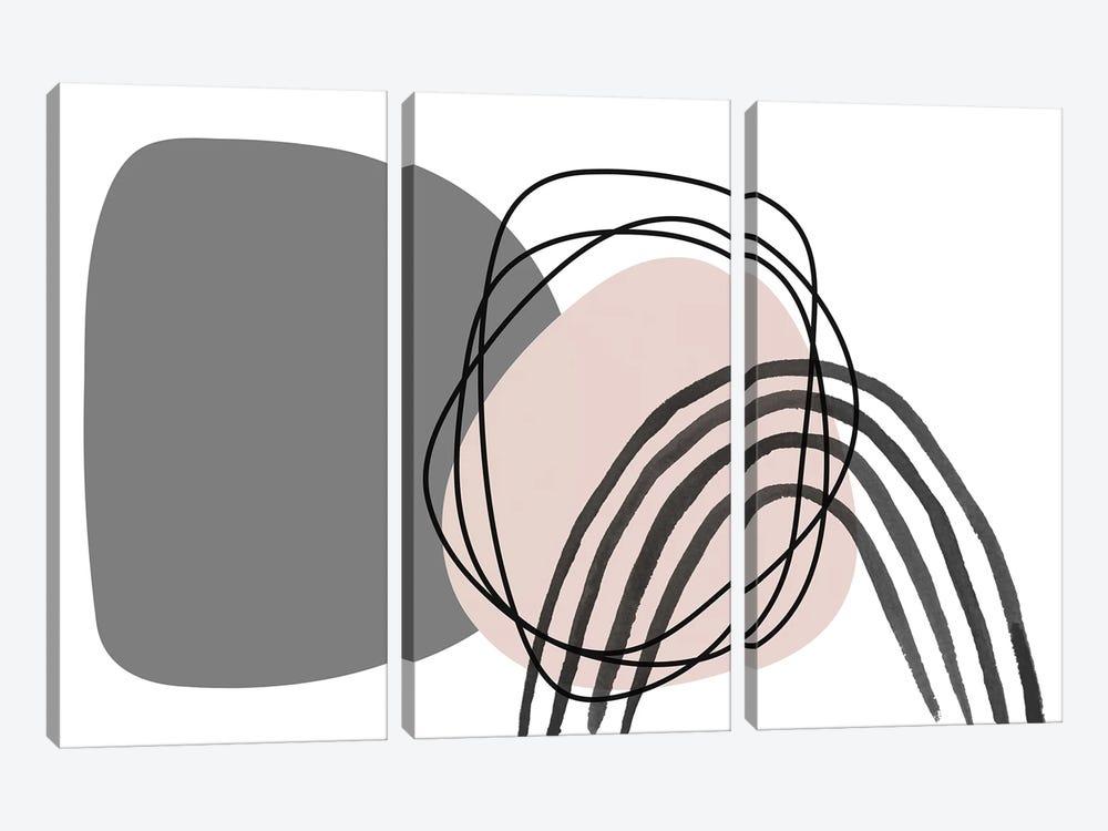 Minimalist Pink Gray Palette I by Irena Orlov 3-piece Canvas Art