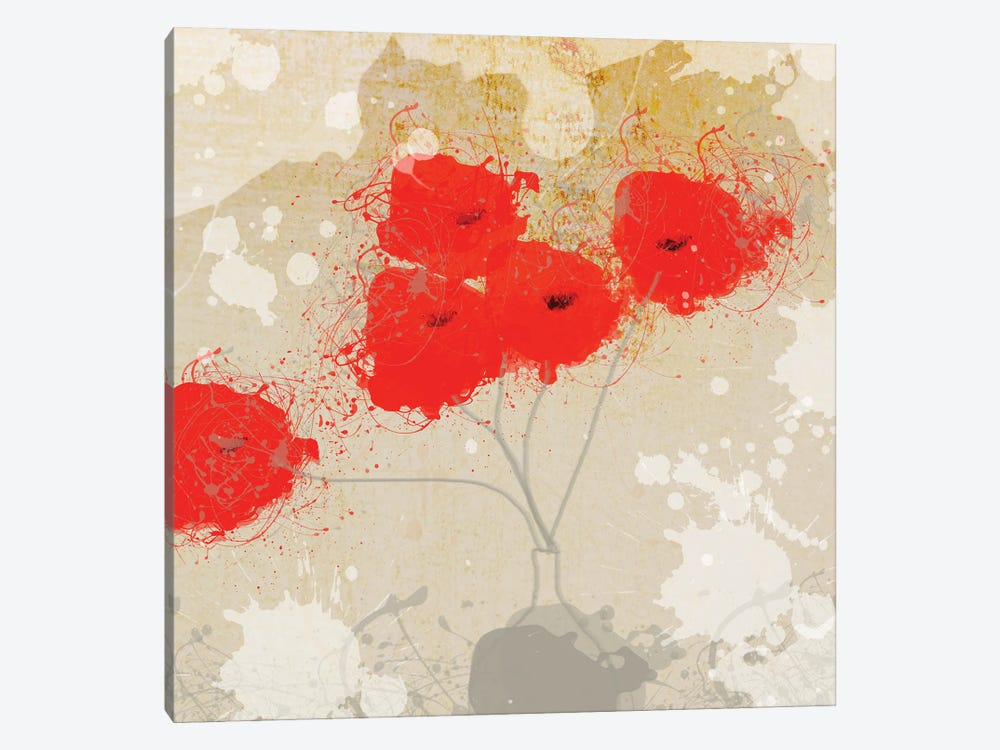 Red Abstract Bunch II by Irena Orlov 1-piece Art Print