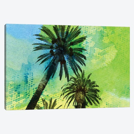 Two Palm Trees Canvas Print #ORL63} by Irena Orlov Canvas Artwork