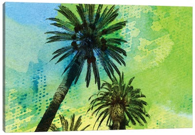 Two Palm Trees Canvas Art Print