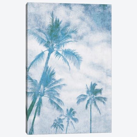 California Blue Beach Palm Trees I Canvas Print #ORL646} by Irena Orlov Canvas Art Print