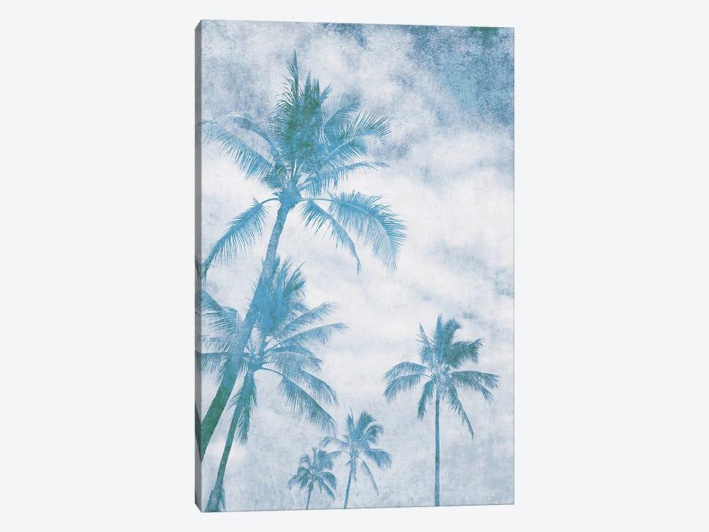 California Blue Beach Palm Trees I by Irena Orlov 1-piece Canvas Art Print