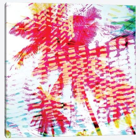 Pink Yellow Palms Canvas Print #ORL658} by Irena Orlov Canvas Art Print