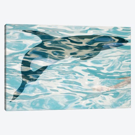 Whale In Water I Canvas Print #ORL659} by Irena Orlov Art Print
