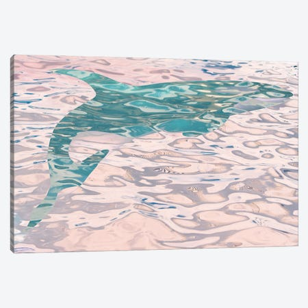 Whale In Water II Canvas Print #ORL660} by Irena Orlov Canvas Artwork