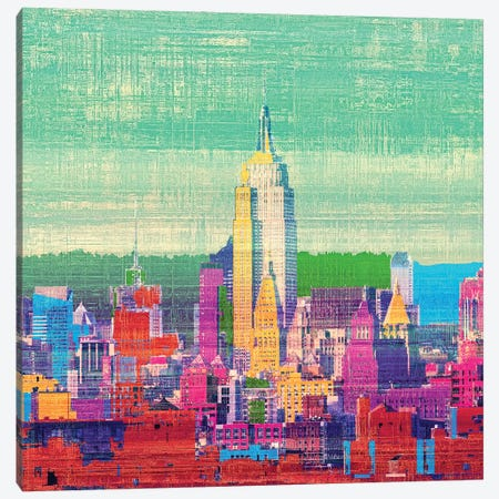 Colorful New York I Canvas Print #ORL663} by Irena Orlov Canvas Artwork