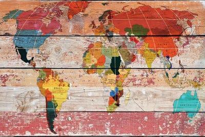World map canvas artwork by irena orlov icanvas canvas gumiabroncs Gallery