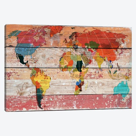 World Map Canvas Print #ORL67} by Irena Orlov Canvas Print