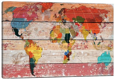World Map Canvas Print #ORL67