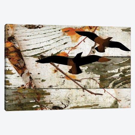 Birds On A Birch I Canvas Print #ORL69} by Irena Orlov Canvas Wall Art