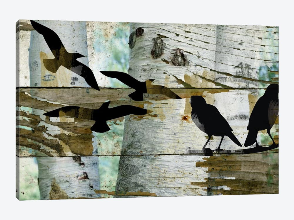 Birds On A Birch II by Irena Orlov 1-piece Canvas Art Print