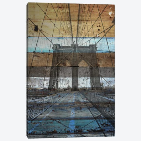 Brooklyn Bridge, NYC 3-Piece Canvas #ORL74} by Irena Orlov Canvas Wall Art