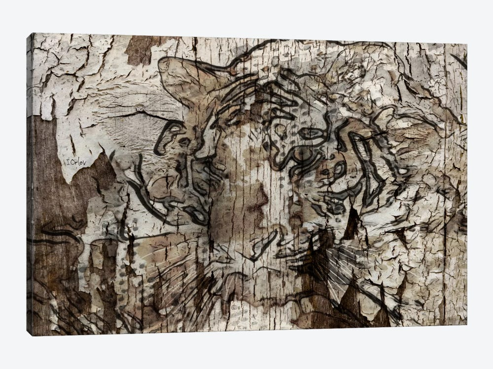 Brown Tiger by Irena Orlov 1-piece Canvas Artwork