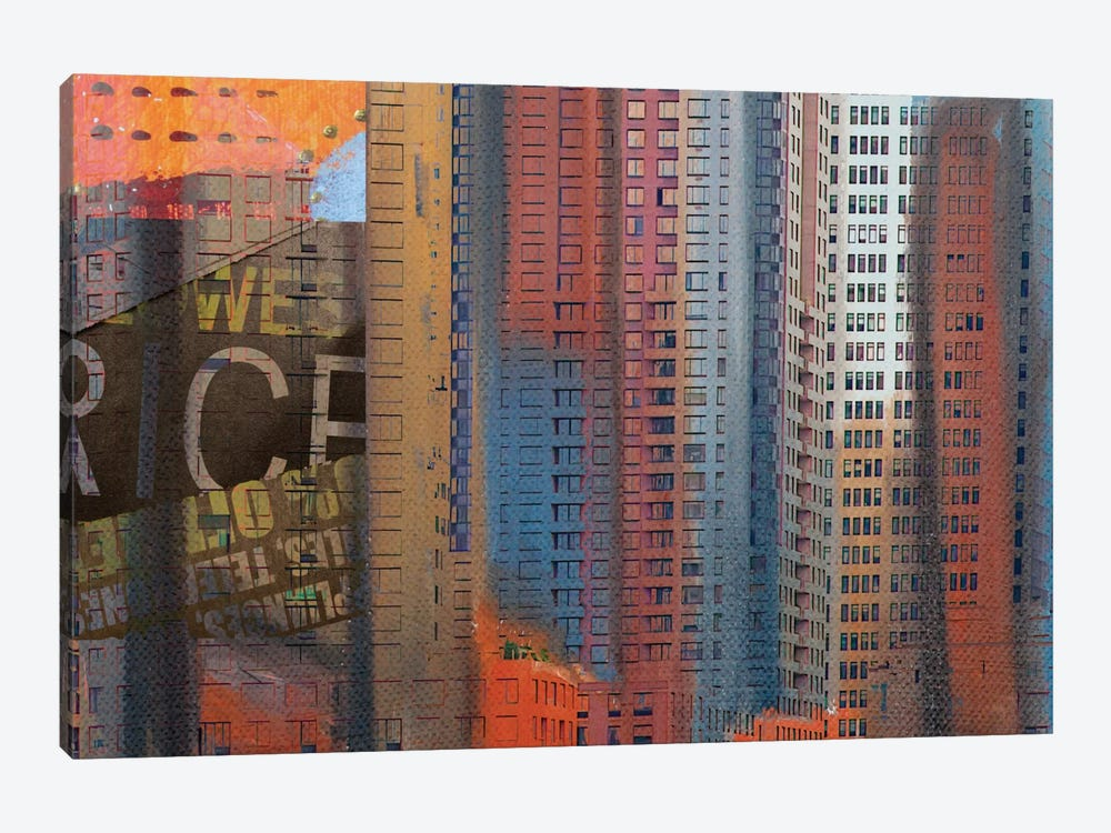 Buildings Of New York by Irena Orlov 1-piece Canvas Art