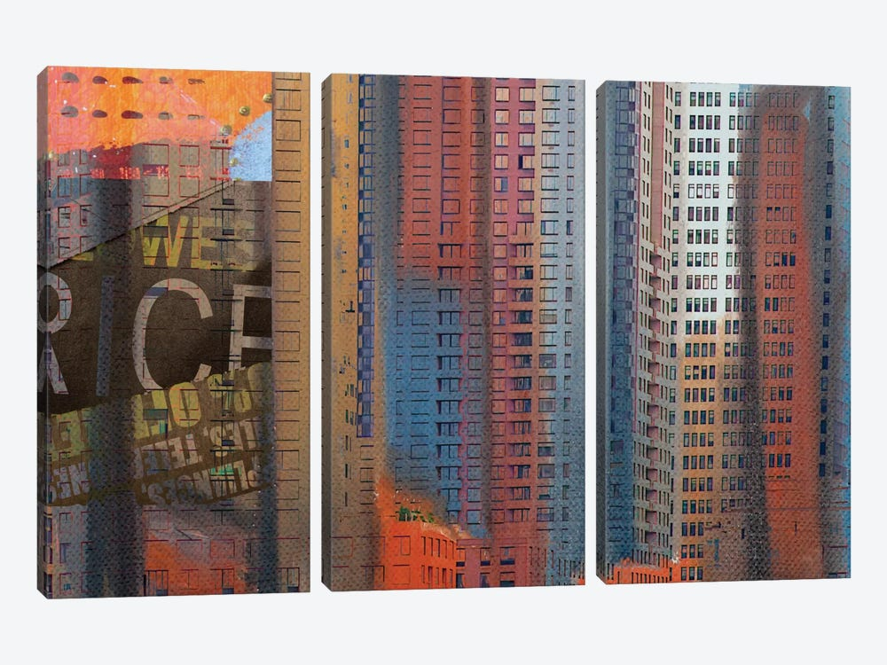 Buildings Of New York by Irena Orlov 3-piece Canvas Wall Art