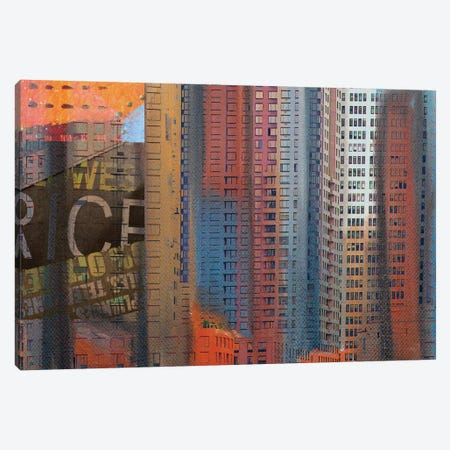 Buildings Of New York 3-Piece Canvas #ORL77} by Irena Orlov Canvas Art