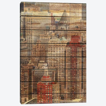 Downtown New York 3-Piece Canvas #ORL79} by Irena Orlov Canvas Art Print
