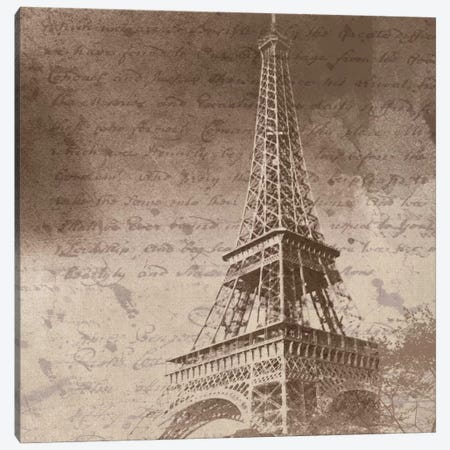 Eiffel Tower I Canvas Print #ORL80} by Irena Orlov Canvas Wall Art