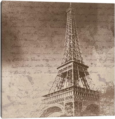 Eiffel Tower I Canvas Art Print