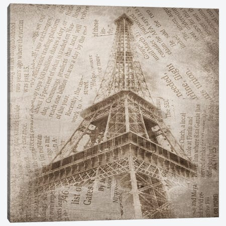 Eiffel Tower II Canvas Print #ORL81} by Irena Orlov Canvas Wall Art