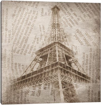 Eiffel Tower II Canvas Print #ORL81