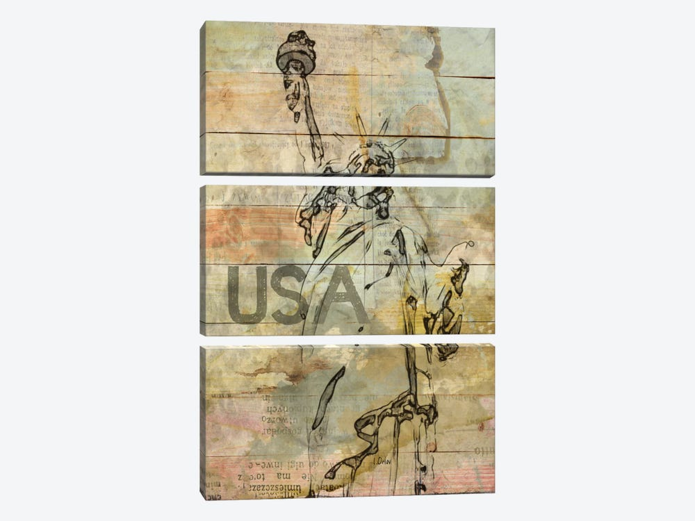 Lady Liberty by Irena Orlov 3-piece Canvas Artwork