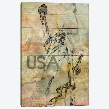 Lady Liberty Canvas Print #ORL88} by Irena Orlov Canvas Artwork