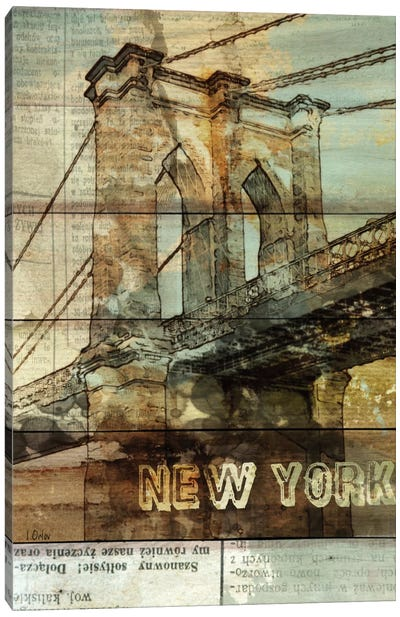Brooklyn Bridge, New York City, New York Canvas Art Print