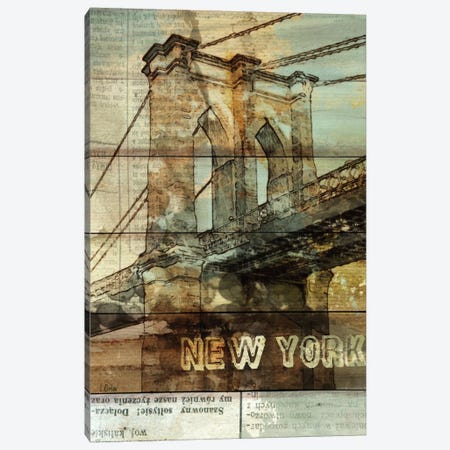 Brooklyn Bridge, New York City, New York 3-Piece Canvas #ORL8} by Irena Orlov Art Print