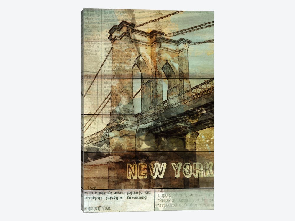 Brooklyn Bridge, New York City, New York 1-piece Canvas Wall Art