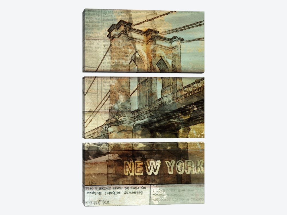 Brooklyn Bridge, New York City, New York 3-piece Canvas Wall Art