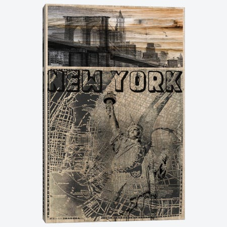 NYC, Old City Map Canvas Print #ORL96} by Irena Orlov Canvas Art