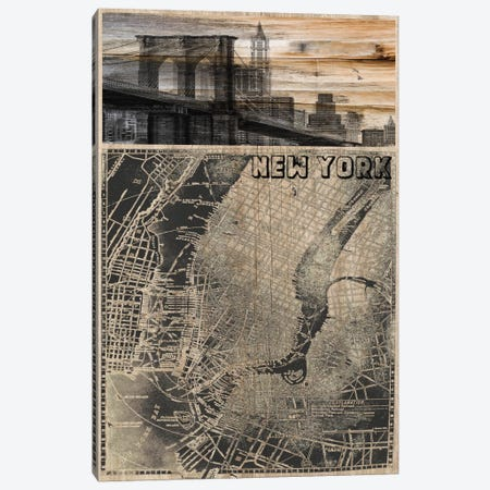 NYC, Old City Map III Canvas Print #ORL97} by Irena Orlov Canvas Art