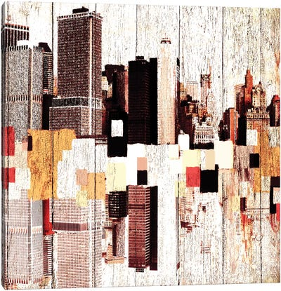 NYC's Colorful Downtown I Canvas Print #ORL98