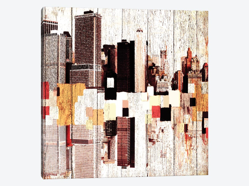 NYC's Colorful Downtown I by Irena Orlov 1-piece Canvas Art Print