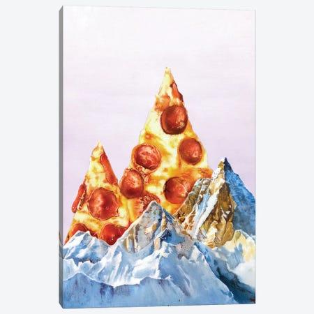 Pizza Files Canvas Print #ORM10} by James Ormiston Canvas Wall Art