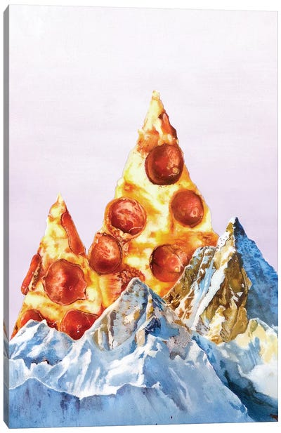 Pizza Files Canvas Art Print