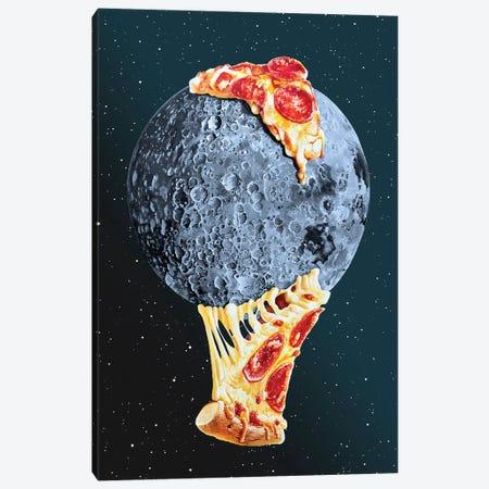 Pizza Moon Canvas Print #ORM11} by James Ormiston Canvas Wall Art