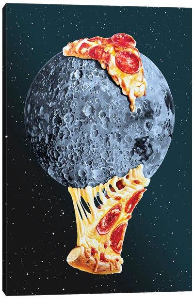 Pizza Moon Canvas Art Print