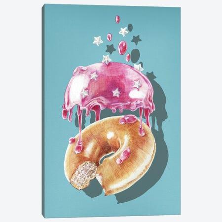 Space Doughnut Canvas Print #ORM13} by James Ormiston Canvas Art