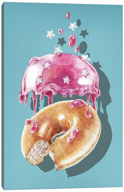 Space Doughnut Canvas Art Print