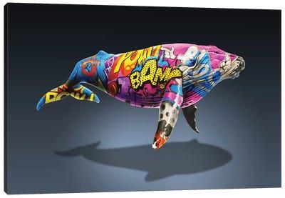 Tagged Whale Canvas Art Print