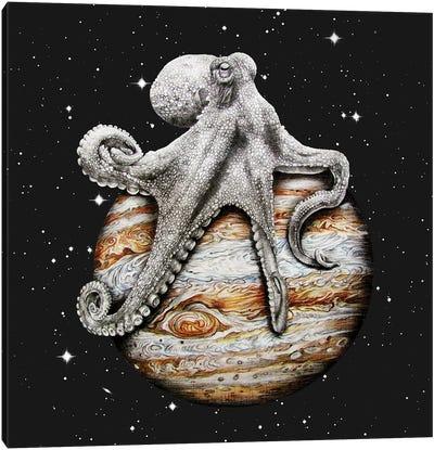 Celestial Cephalopod Canvas Art Print
