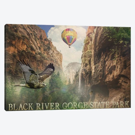 Black River Gorge Canvas Print #ORT102} by Old Red Truck Canvas Art Print