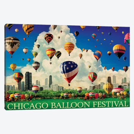 Chicago Balloon Fest Canvas Print #ORT109} by Old Red Truck Canvas Art Print