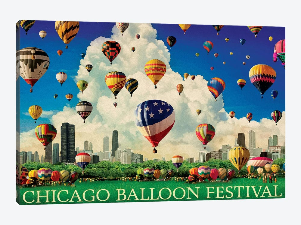 Chicago Balloon Fest by Old Red Truck 1-piece Canvas Wall Art
