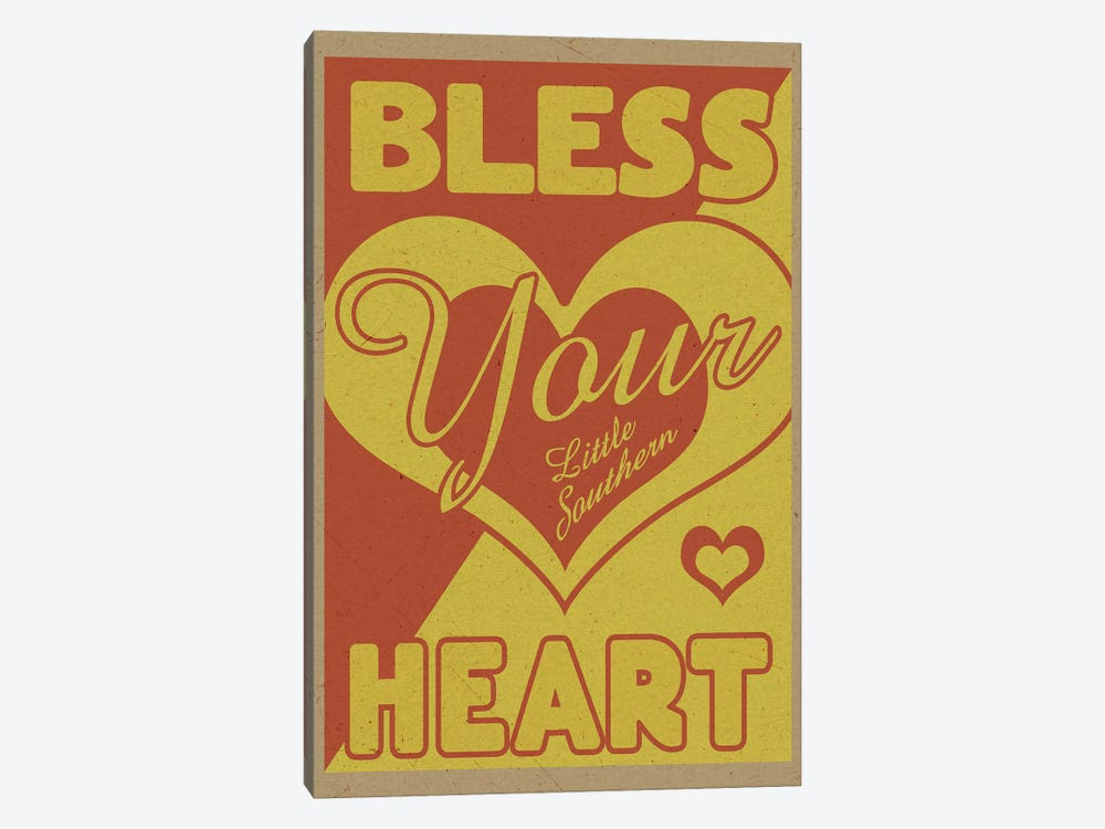 Bless Your Little Southern Heart by Old Red Truck 1-piece Canvas Art Print